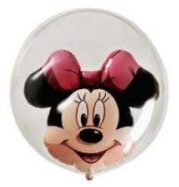 """Mintás Bubbles lufi 24"""" 60cm Lufiban lufi Minnie Mouse Héliummal töltve, 27568"""