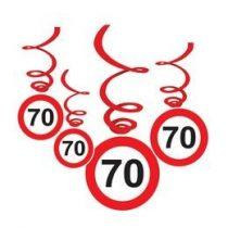 Sebességkorlátozó függő dekoráció 6db-os 70-es számmal