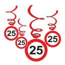 Sebességkorlátozó függő dekoráció 6db-os 25-ös számmal