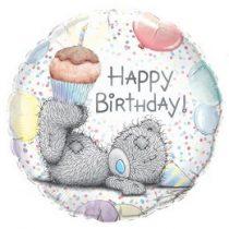 """Szülinapi fólia lufi 18"""" 45cm Happy Birthday, 29648, héliummal töltve"""