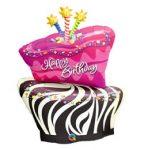 """Szülinapi fólia lufi 41"""" 104cm óriás fólia Happy Birthday, torta, 16081, héliummal töltve"""
