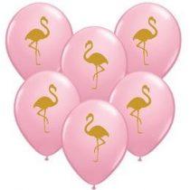 """Mintás latex lufi 11"""" 28cm Flamingó"""