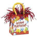 Léggömbsúly, nehezék 160g ajándéktasak forma, Happy Birthday, 49044