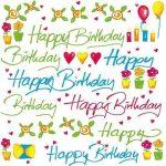 Szalvéta 33x33cm Happy Birthday 20db 3 rétegű