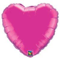 """Egyszínű szív fólia lufi 18"""" 45cm rózsaszín szív, 99335, héliummal töltve"""