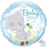 """Fólia lufi babaszületésre 18"""" 45cm - Baby boy, 28172, héliummal töltve"""