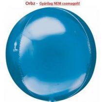 """Egyszínű fólia gömb lufi 16"""" 40cm kék Orbz, 2820499, héliummal töltve"""