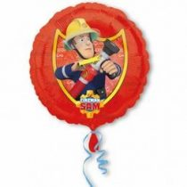 """Fólia lufi 17"""" 43cm Sam a tűzoltó, 3013301, héliummal töltve"""