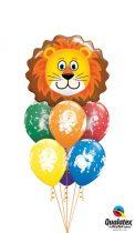 Héliumos luficsokor, bármely alkalomra, oroszlán - INGYENES KISZÁLLÍTÁSSAL