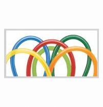 QUALATEX 160Q modellező lufi 100db/csomag vegyes karnevál színek, kukaclufi