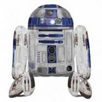 Sétáló lufi, airwalkers 38 inch 96 cm Star Wars, R2D2 - Héliummal töltve