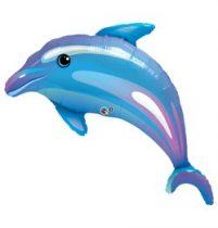 "Óriás fólia lufi 42""  delfin, 29338, héliummal töltve"
