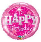 """Szülinapi fólia lufi 18"""" 45cm Happy Birthday, héliummal töltve"""