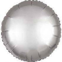 """Egyszínű kerek fólia lufi 18"""" 45cm Chrome ezüst, Silver, n3680501, héliummal töltve"""