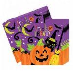 Mosolygó Tök Halloween Parti Szalvéta - 33 Cm X 33 Cm, 16 Db