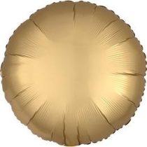 """Egyszínű kerek fólia lufi 18"""" 45cm Chrome arany, Gold, n3680101, héliummal töltve"""