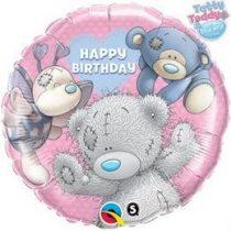 """Szülinapi fólia lufi 18"""" 45cm Happy Birthday, 20723, héliummal töltve"""