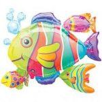 """Óriás fólia lufi 30"""" 76cm hal, 0764701, héliummal töltve"""