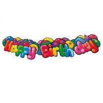 Üdvözlőfelirat Happy Birthday 130cm
