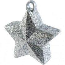 Léggömbsúly, nehezék 170g csillag forma, ezüst glitter színben, 114550-18