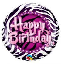 """Szülinapi fólia lufi 18"""" 45cm Happy Birthday, 38070, héliummal töltve"""
