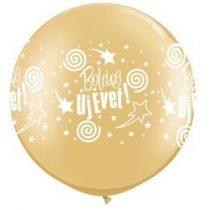 3 feet 91cm latex léggömb Boldog Új Évet arany szilveszteri lufi