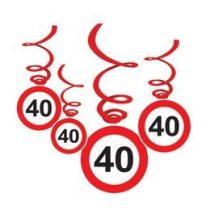Sebességkorlátozó függő dekoráció 6db-os 40-es számmal