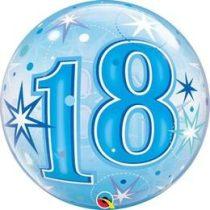 """Számos Bubbles lufi 22"""" 56cm 18-as számmal, Héliummal töltve, 48439"""
