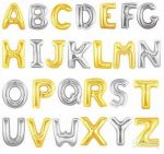 """Betű lufi 31"""" 80cm óriás arany fólia betű, N betű, Héliummal töltve"""