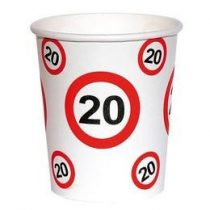 Papírpohár sebességkorlátozó 20-as számmal, 250ml 6db, 20758