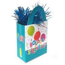 Léggömbsúly, nehezék 120g ajándéktasak forma, Jamboree, Boldog Szülinapot, 25265