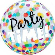 """Bubbles lufi 22"""" 56cm Héliummal töltve Party Time, 23636"""