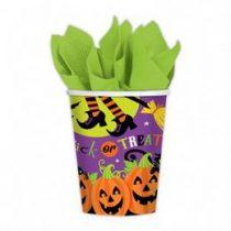 Pumpkin Pals - Tökfejes Parti Pohár Halloween - 270ml, 8db
