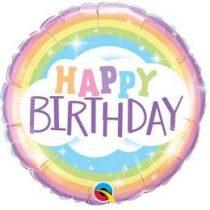 """Szülinapi fólia lufi 18"""" 45cm Happy Birthday,Szivárvány, 78658, héliummal töltve"""