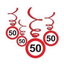 Sebességkorlátozó függő dekoráció 6db-os 50-es számmal, 33008