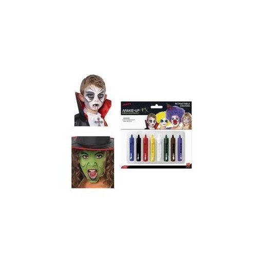 Kitekerhető arcfestő zsírkréta Arcfesték Készlet - 8 db-os,  37803