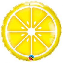 "Fólia lufi 18"" 45cm lemon, citrom, 10457, héliummal töltve"