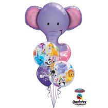 Héliumos luficsokor, bármely alkalomra, elefánt - INGYENES KISZÁLLÍTÁSSAL