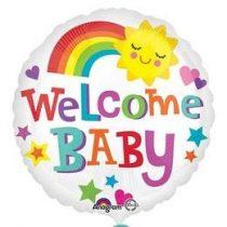 """Fólia lufi babaszületésre 18"""" 45cm - Welcome baby, 3363801, héliummal töltve"""