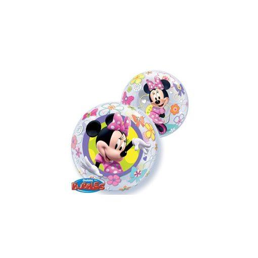 """Mintás Bubbles lufi 22"""" 56cm Héliummal töltve Disney Minnie Mouse, 41065"""