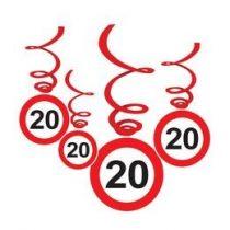 Sebességkorlátozó függő dekoráció 6db-os 20-as számmal