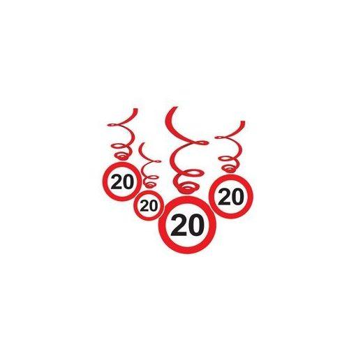 Sebességkorlátozó függő dekoráció 6db-os 20-as számmal, 32964