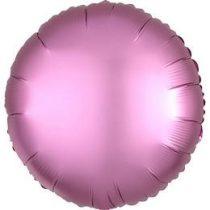 """Egyszínű kerek fólia lufi 18"""" 45cm Chrome mályva, Mauve, n3682101, héliummal töltve"""
