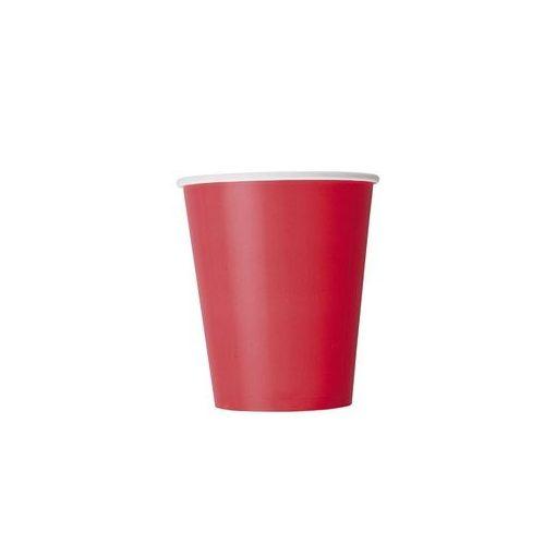 Papírpohár 2,5dl 8db piros p3126