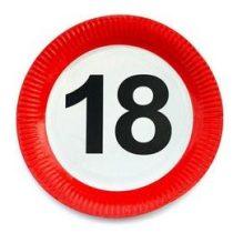 Papírtányér sebességkorlátozó 18-as számmal 23cm 6db, 20659