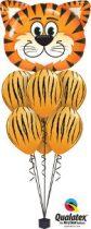 Héliumos luficsokor bármely alkalomra, tigris - INGYENES KISZÁLLÍTÁSSAL