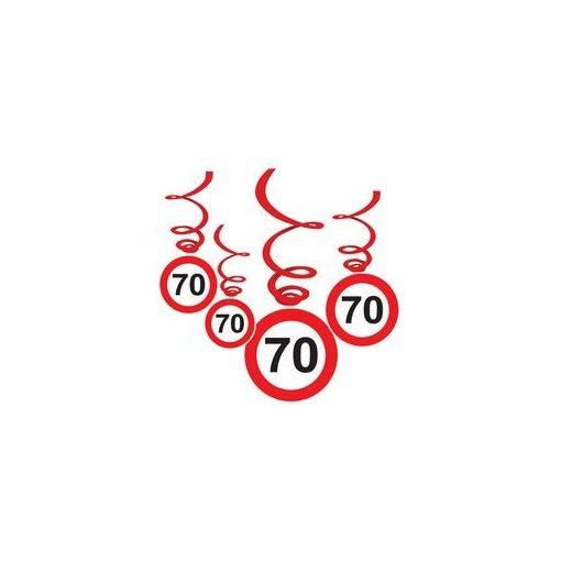 Sebességkorlátozó függő dekoráció 6db-os 70-es számmal, 33022