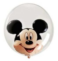 "Mickey Mouse Double Bubble lufi 24"" 60cm Lufiban lufi, Héliummal töltve, 27569"