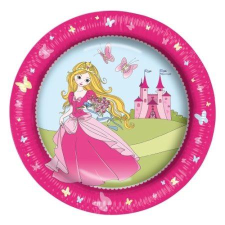 Papírtányér 23cm 8db Princess