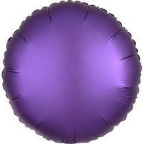 """Egyszínű kerek fólia lufi 18"""" 45cm Chrome lila, Purple, n3681701, héliummal töltve"""